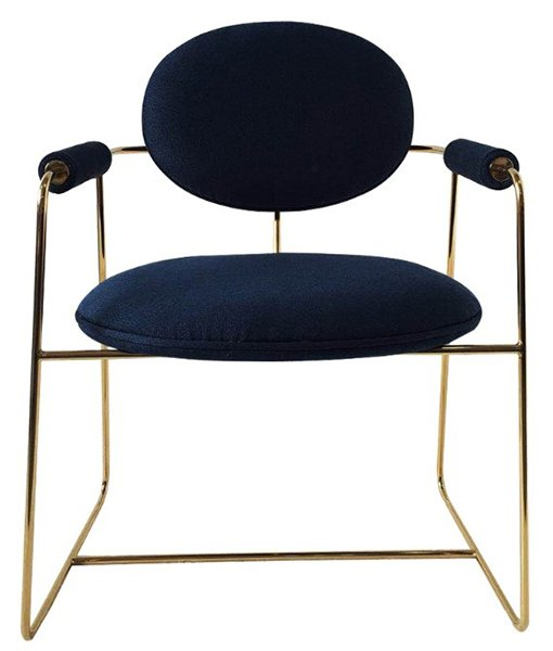 gong metal frame dining chair