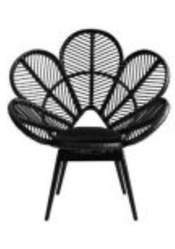 black flower rattan outdoor chair