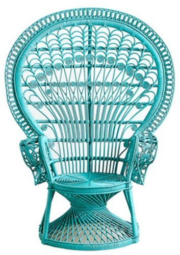 blue peacock chair