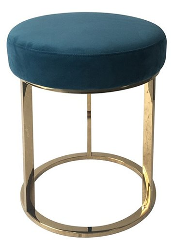 brass framed low stool