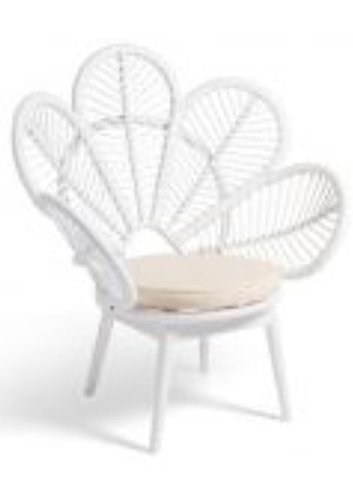 flower rattan outdoor chair