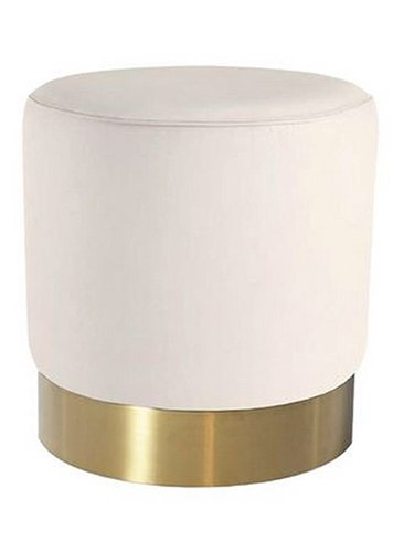 white ottoman brass base